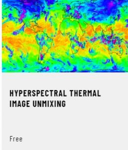 Hyperspectral thermal image unmixing